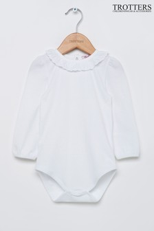 Trotters London White Laura Anglaise Body