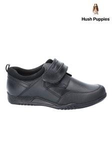Hush Puppies Black Noah Junior School Shoes
