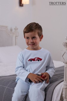 Trotters London Blue Sebastian Jersey Pyjamas