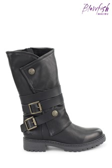 Blowfish Malibu Womens Black Ritz Lug Sole Boots
