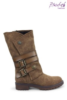 Blowfish Malibu Womens Brown Ritz Lug Sole Boots
