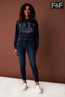 F&F Blue Push Up Jeans
