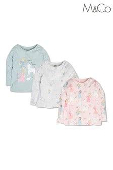 M&Co Princess T-Shirts 3 Pack