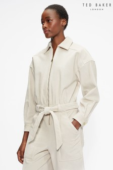 Ted Baker Forisa Cord Zip Front Jumpsuit
