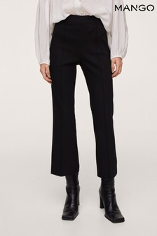 Mango Womens Black Trousers