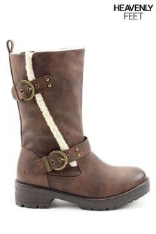 Heavenly Feet Ladies Style Bonnie Mid Calf Boots
