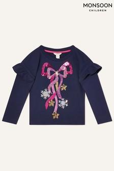 Monsoon Christmas Bow Sweatshirt