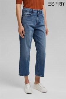Esprit Womens Blue Denim Pants