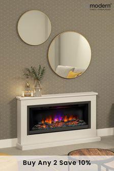 Brown Be Modern Hansford Grande Electric Fireplace