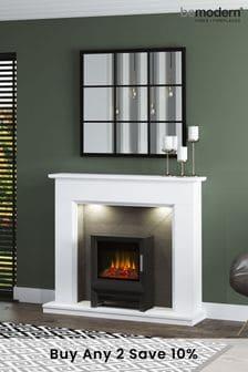 White Be Modern Kingsbridge Inglenook Electric Fireplace