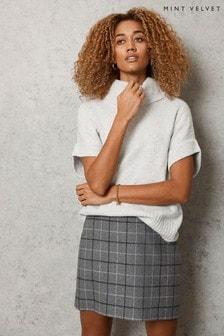Mint Velvet Grey Cowl Neck Knitted Top