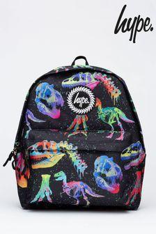 Hype. Older Boys Black Rainbow Dino Backpack