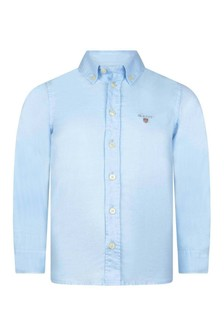 Boys Blue Cotton Oxford Shirt