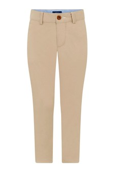 Boys Sand Cotton Chino Trousers
