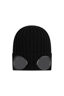Boys Merino Wool Goggle Hat
