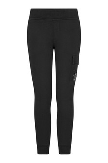 Boys Black Cotton Joggers