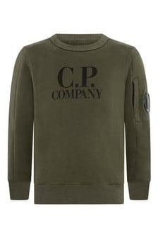 Boys Melange Cotton Crew Neck Sweater