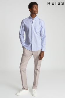 Reiss Blue Greenwich Soft Wash Button Down Oxford Shirt