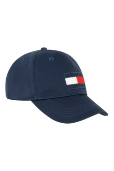 Kids Navy Organic Cotton Flag Cap