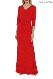 Gina Bacconi Red Samantha Maxi Dress