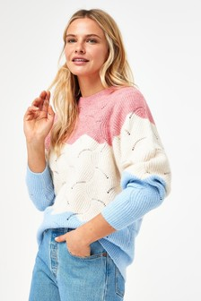 Stripe Stitch Detail Jumper