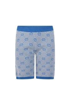 Boys Blue Wool GG Shorts