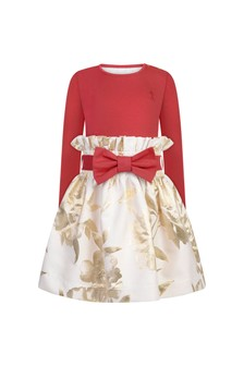 Girls Gold Flower Dress