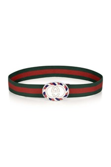Kids Green & Red Elasticated Belt