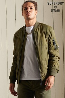 Superdry Green Military MA1 Bomber Jacket