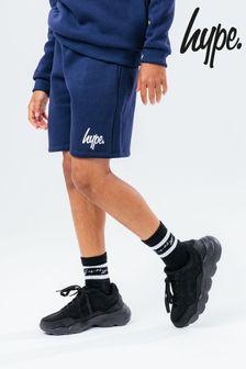 Hype. Older Boys Blue Script Shorts