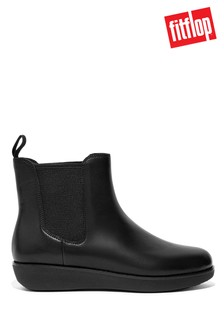 FitFlop Black Sumi Waterproof Leather Chelsea Boots