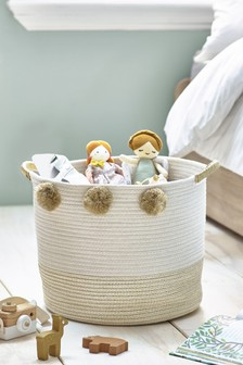 Pom Pom Metallic Gold Storage Bag