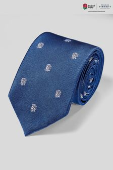 Charles Tyrwhitt Blue Rfu Rose Motif Tie