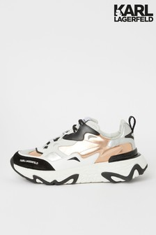 Karl Lagerfeld Pink Leather Blaze Chunky Trainer