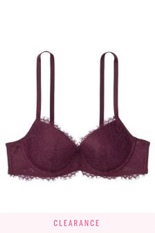 Victoria's Secret Dark Violet Lightly Padded Balcony Bra