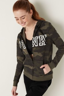 Victoria's Secret PINK Carbide Camo Everyday Lounge Zip Up Hoodie