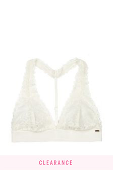 Victoria's Secret PINK Coconut White Lace Halter