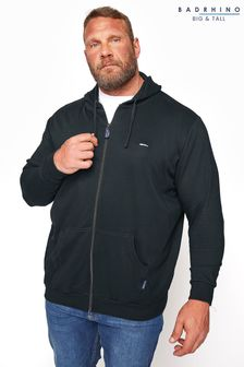 BadRhino Black Essential Zip Through Hoodie