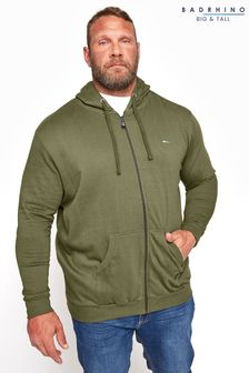 BadRhino Khaki Essential Zip Through Hoodie