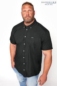 BadRhino Black Cotton Poplin Short Sleeve Shirt