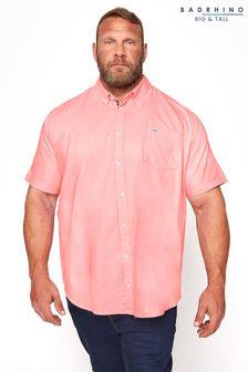 BadRhino Pink Cotton Poplin Short Sleeve Shirt