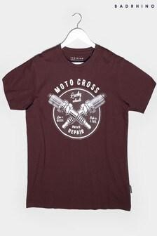 BadRhino Red Graphic Print T-Shirt