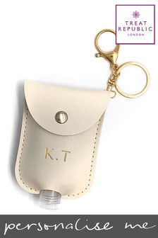 Personalised Luxury Hand Sanitiser Holder by Treat Republic