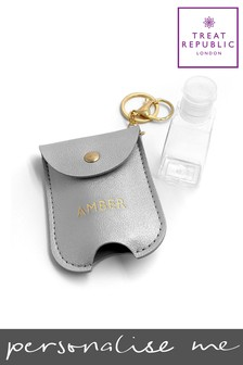 Personalised Luxury Hand Sanitiser Holder by Treat Republic