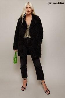 Little Mistress Black Cormac Teddy Coat