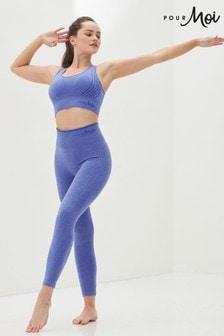 Pour Moi Ultramarine Full Length Energy Seamless Logo Leggings