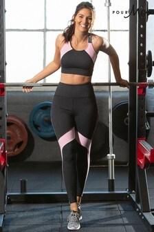 Pour Moi Grey/Pink Energy Logo Elastic Legging