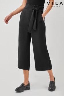 Vila Black Tie Front Culotte