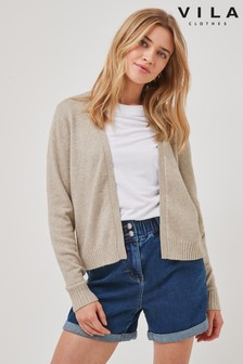 Vila Neutral Short Soft Cardigan