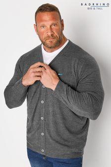 BadRhino Grey Essential Knitted Cardigan